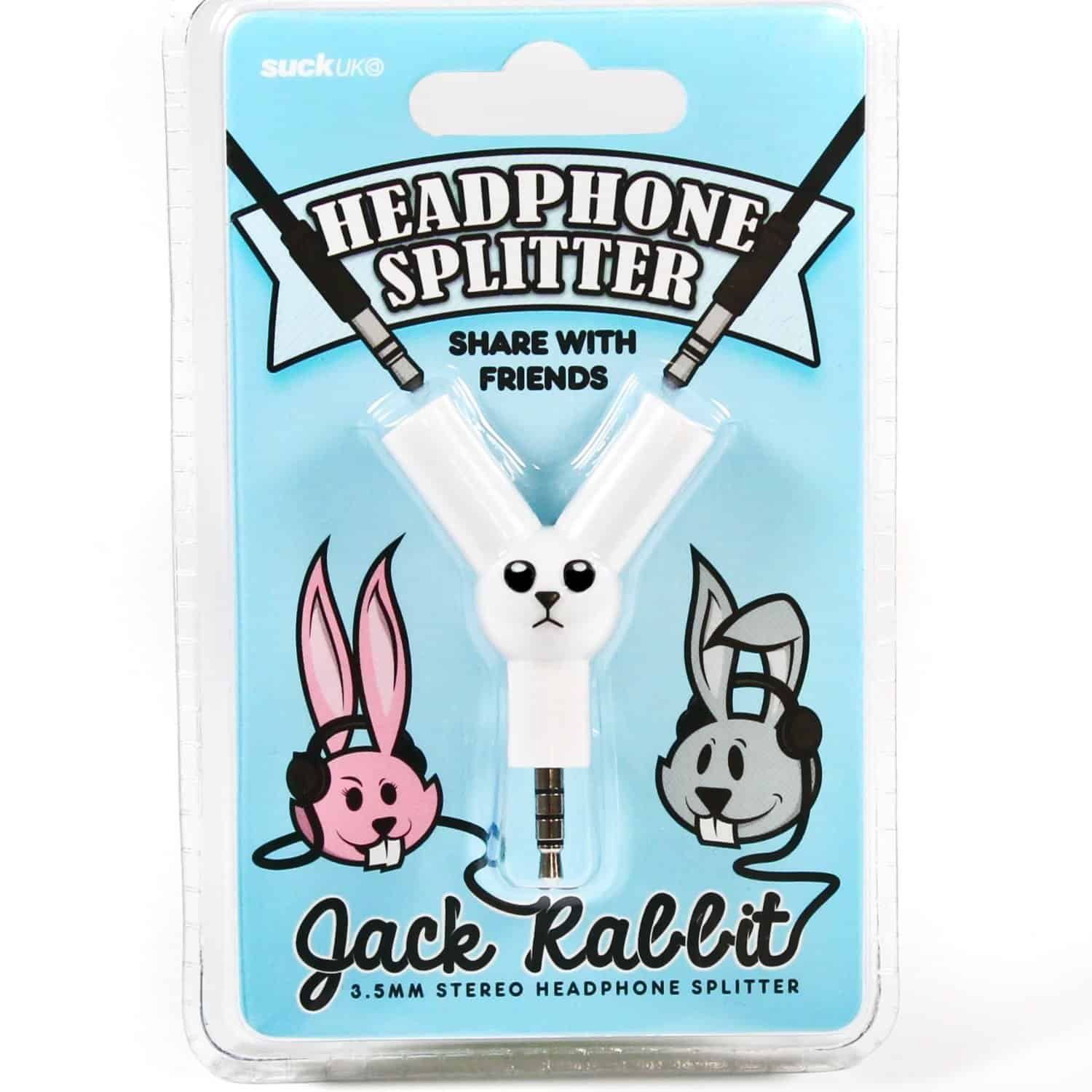 Jack Rabbit Headphone Splitter iPhone Accessory Cute Novelty