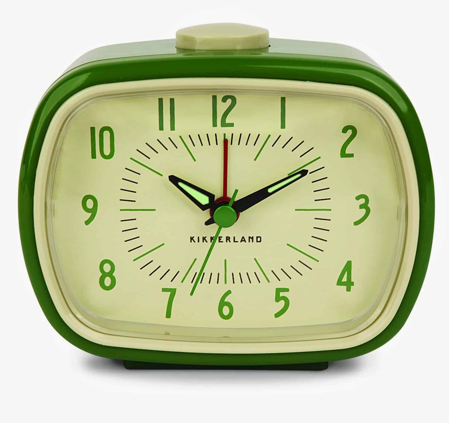 Kikkerland Retro Alarm Clock Green Cool Gift Idea for Old People