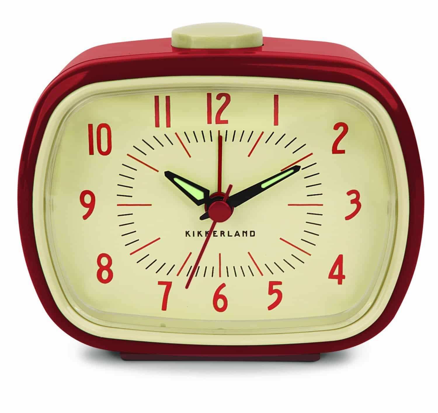 Kikkerland Retro Alarm Clock Red Cool Gift Idea for Old People
