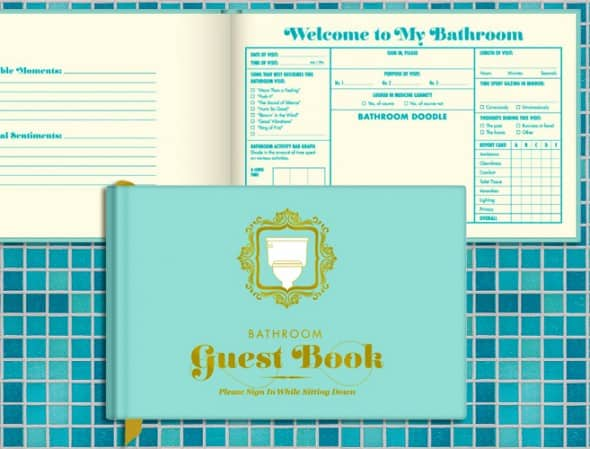 Knock Knock Bathroom Guest Book Cool House Warming Gift Idea