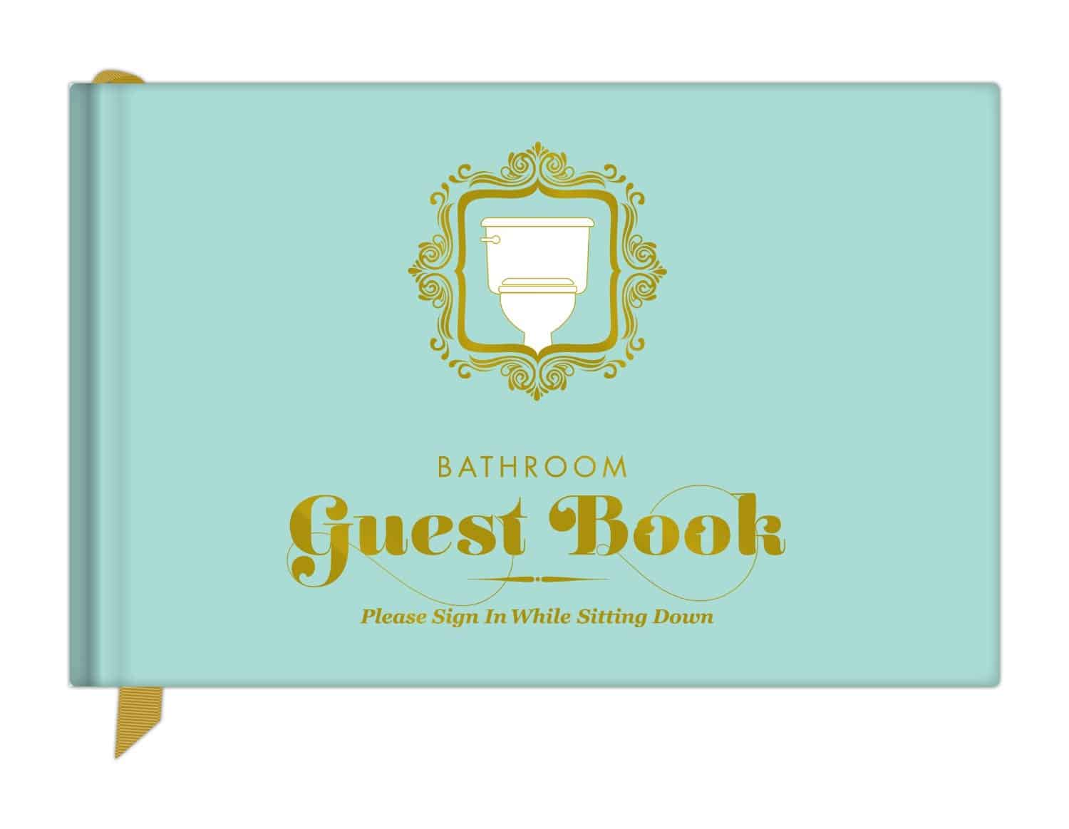 Knock Knock Bathroom Guest Book Fun Party House Accessory