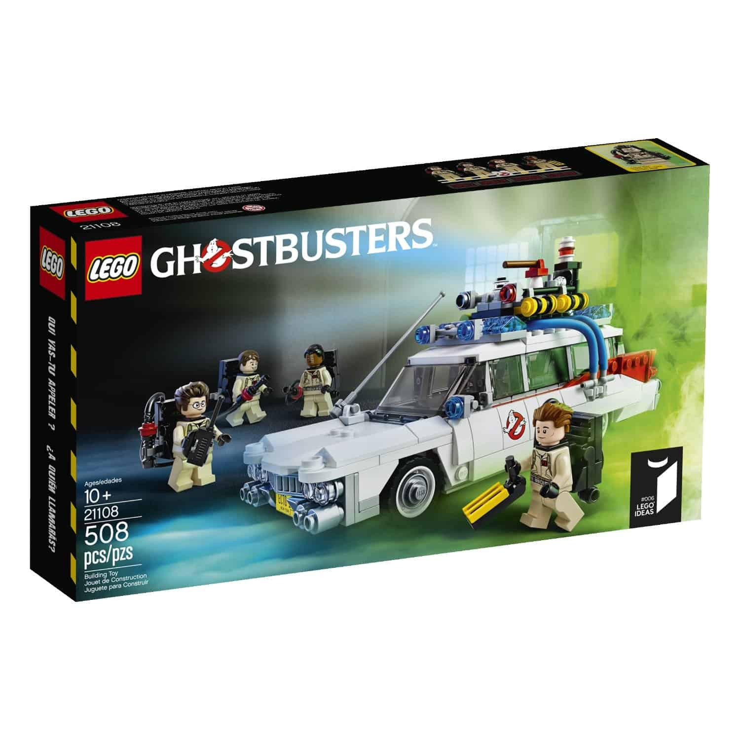 Lego Ghostbusters Ecto-1 Box Design