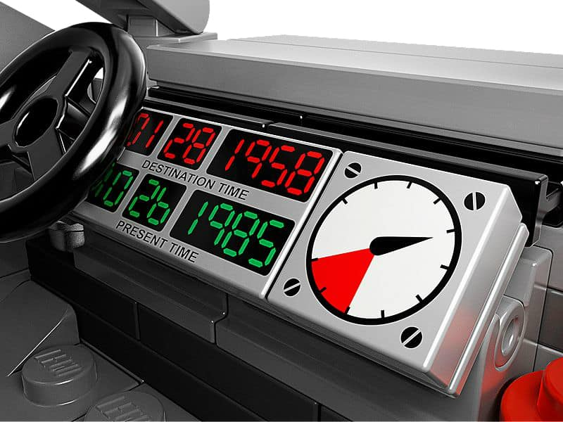 Lego The DeLorean Time Machine Set Date Dashboard Detail