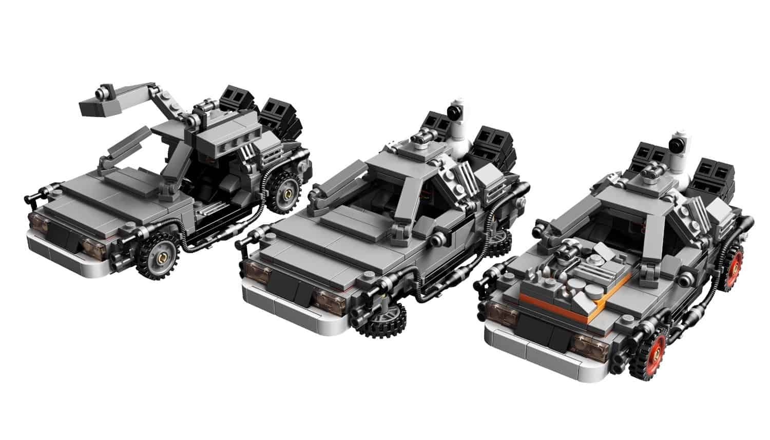 Lego The DeLorean Time Machine Set Different Car Modes
