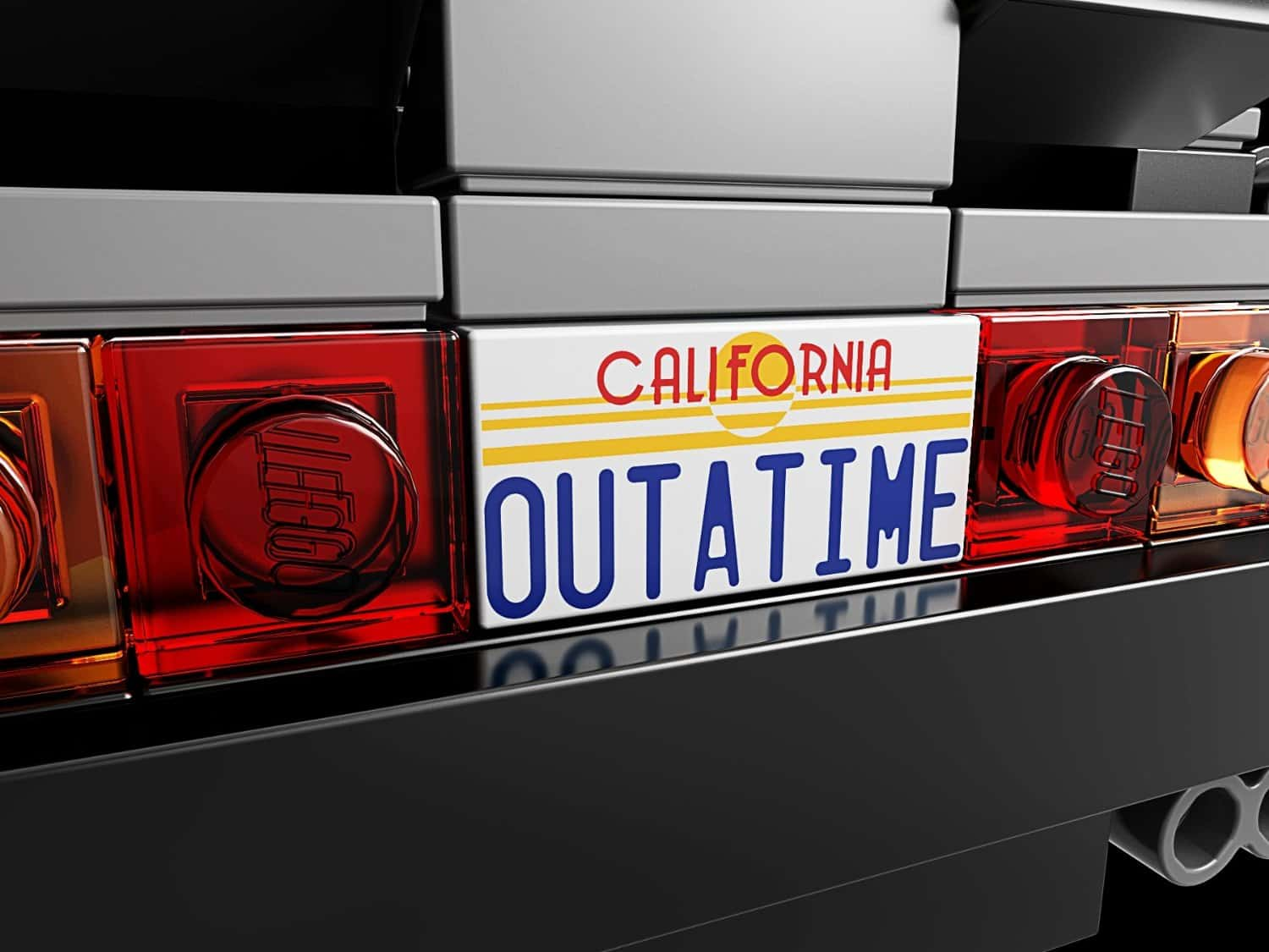 Lego The DeLorean Time Machine Set Out A Time License Plate