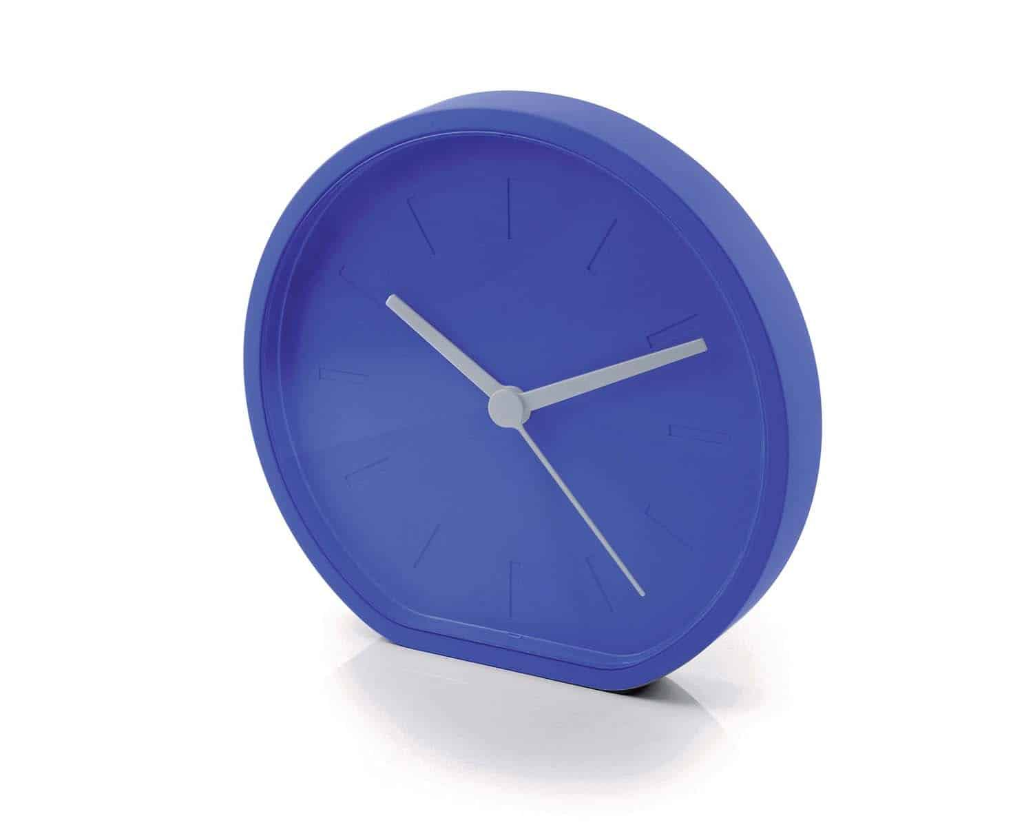 Lexon LR122G Beside Analogue Clock Blue Simple Design Clock