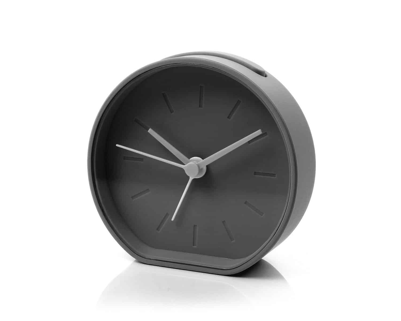 Lexon LR122G Beside Analogue Clock Designer Alarm Clock Black