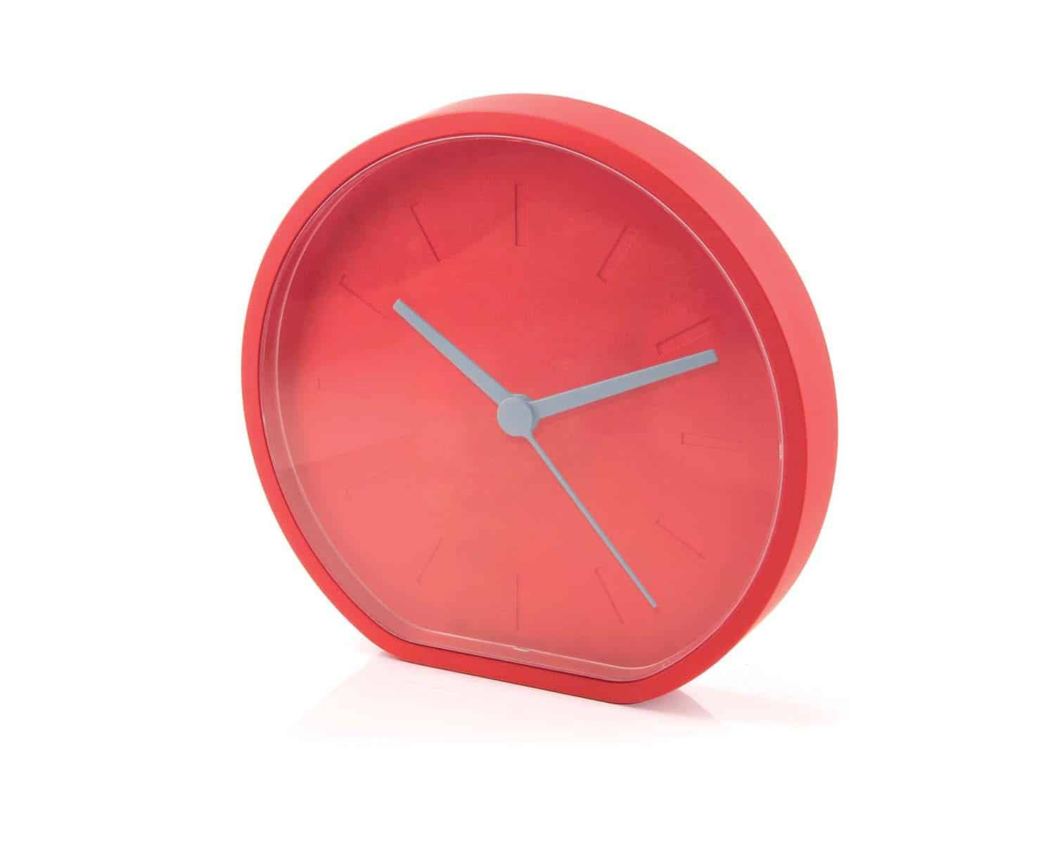 Lexon LR122G Beside Analogue Clock Designer Wall Clock Red