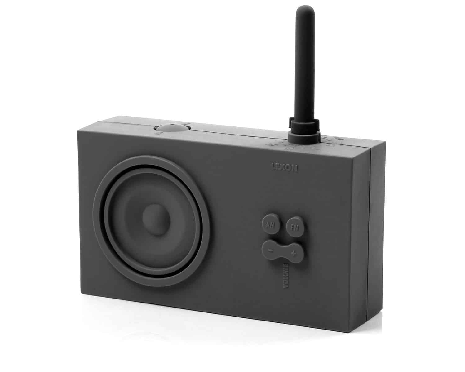 Lexon Tykho Rubber Radio  Black Simple and Clean Design