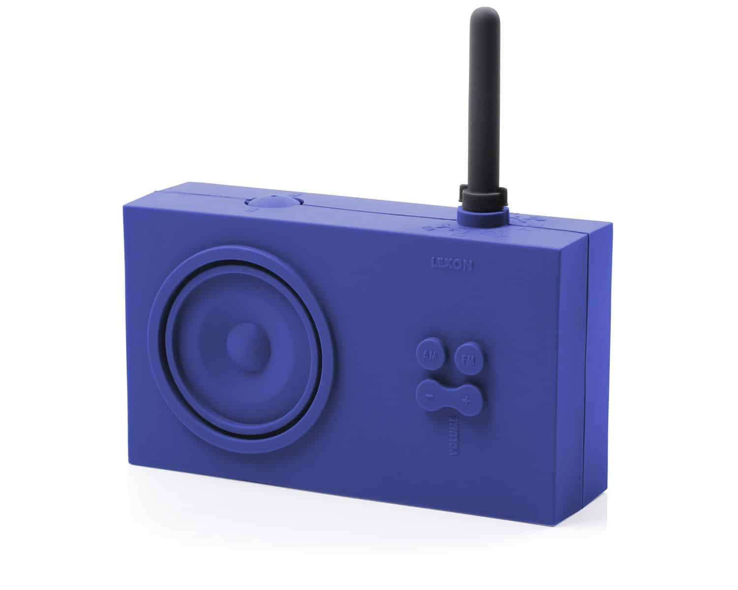 Lexon Tykho Rubber Radio Blue Simple Gift for Him