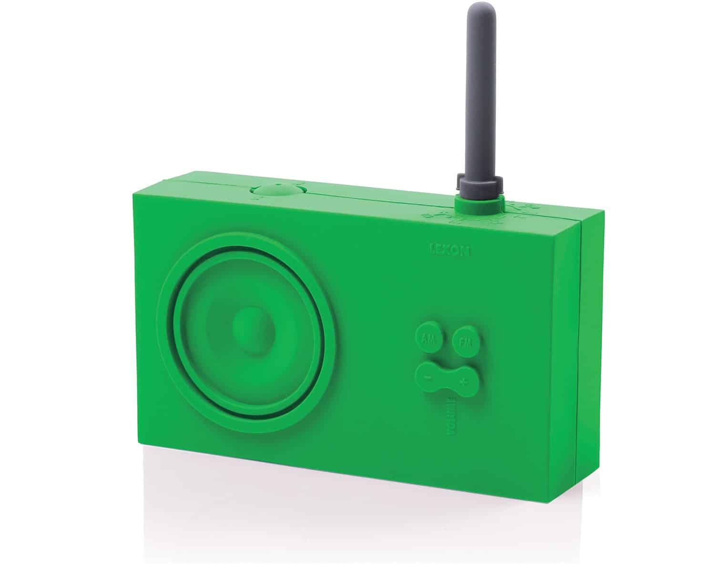 Lexon Tykho Rubber Radio Green Gift Idea for Music Lover