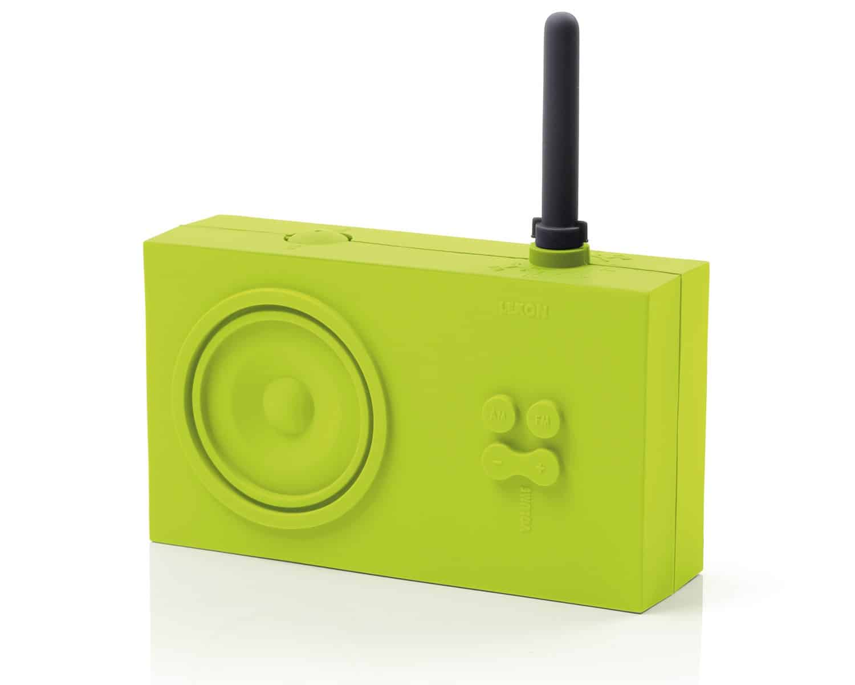 Lexon Tykho Rubber Radio Lime Green Fresh Cool Design