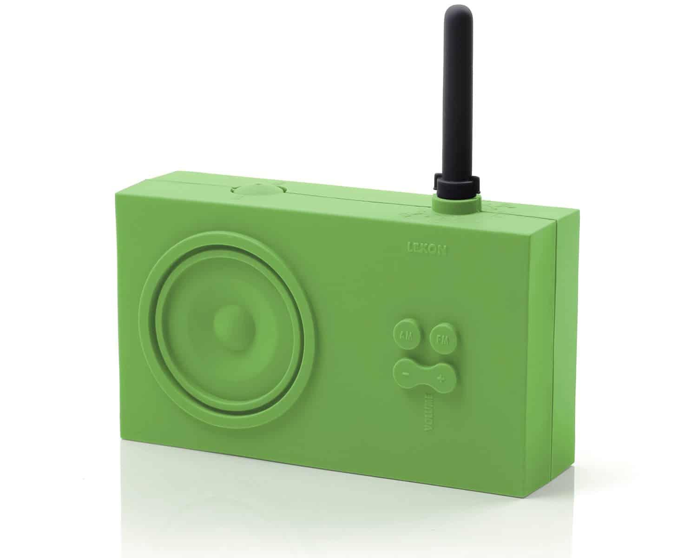 Lexon Tykho Rubber Radio Pastel Green Inspirational Industrial Design
