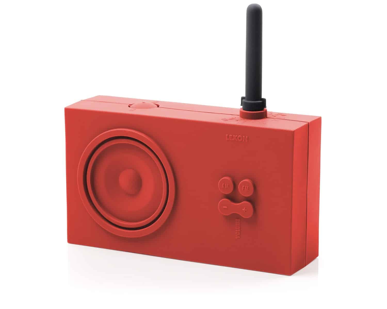 Lexon Tykho Rubber Radio Red Waterproof Sound System