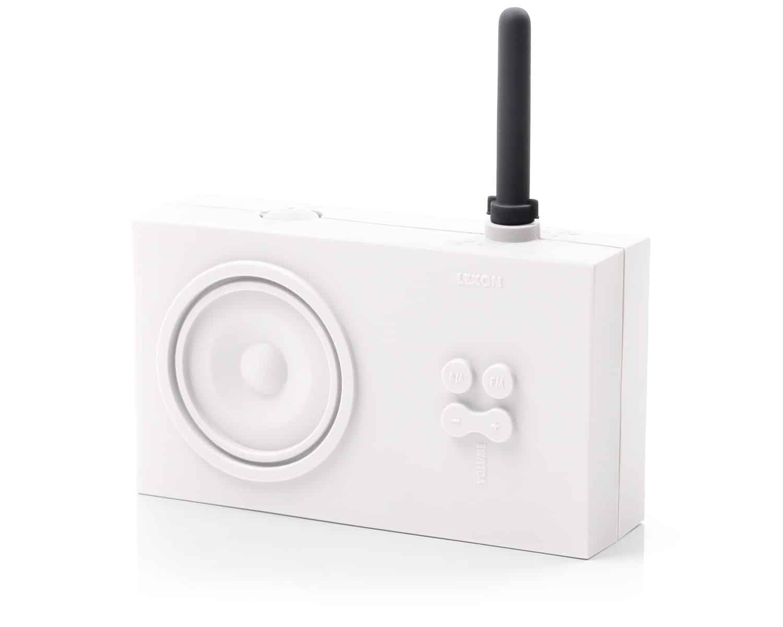 Lexon Tykho Rubber Radio White Old School Design