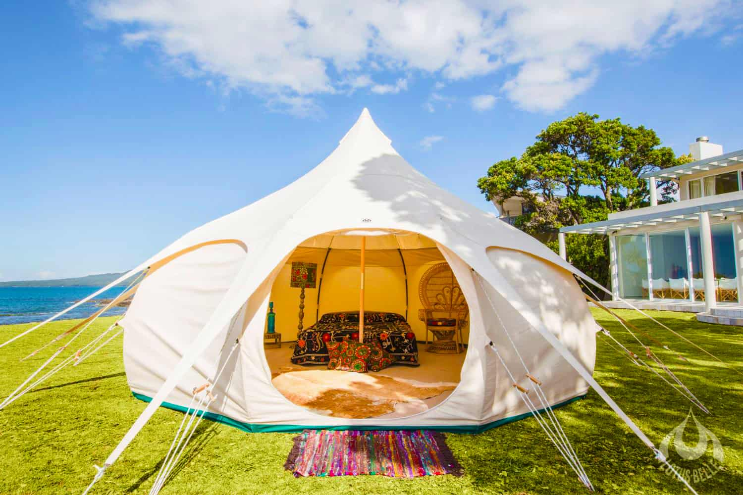 Lotus Belle Original 16ft Tent Stylish Outdoor Structure and Additional Guest Room in the Garden