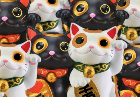 Maneki Neko Japanese Lucky Cat Successful Business Feng Shui