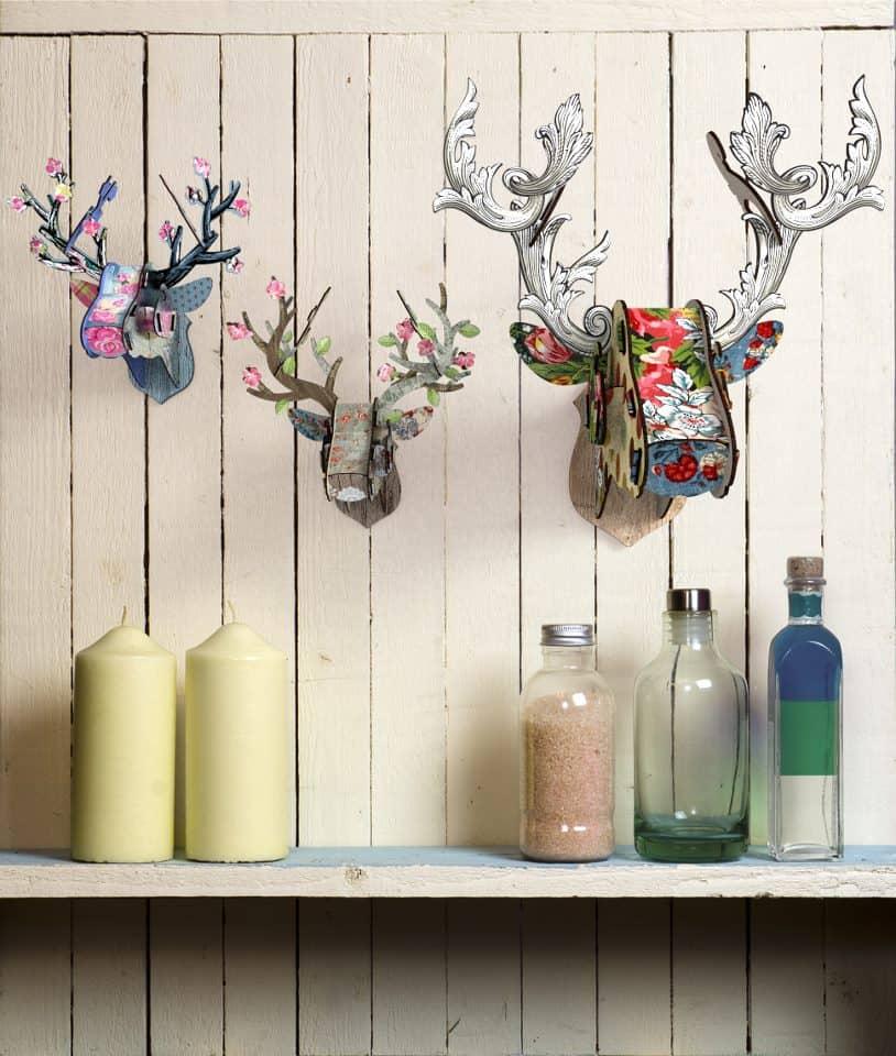Miho Deer Head Trophy Abstract Design