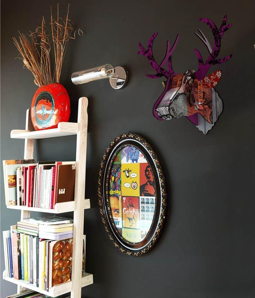 Miho Deer Head Trophy Purple Horns Chic Wall Design