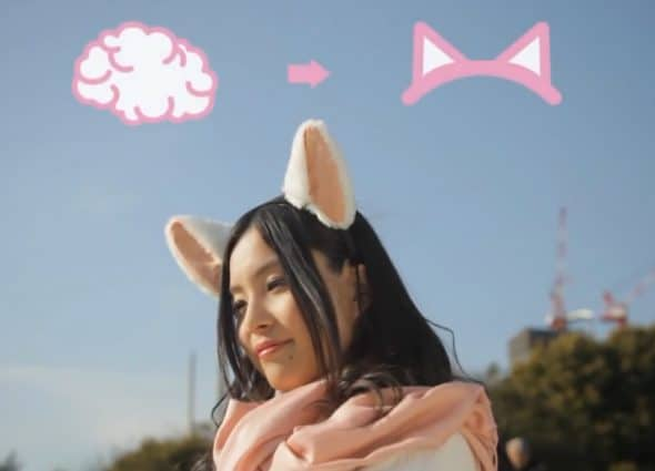 Necomimi Brainwave Emotion Controlled Cat Ears Cute Bachelorette Party Costume & Cosplay Accessory