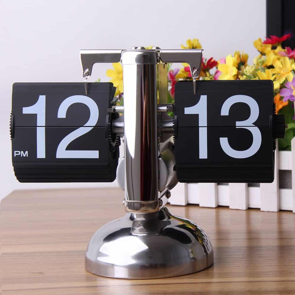 Niceeshop Retro Flip Down Clock House Warming Gift Idea
