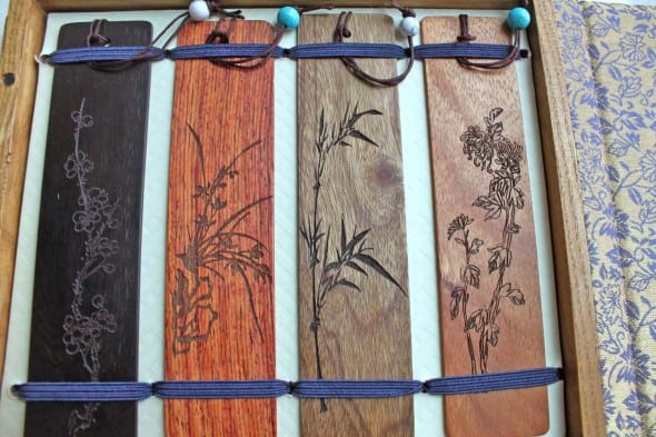 Keep track of your reading with wooden bookmarks.