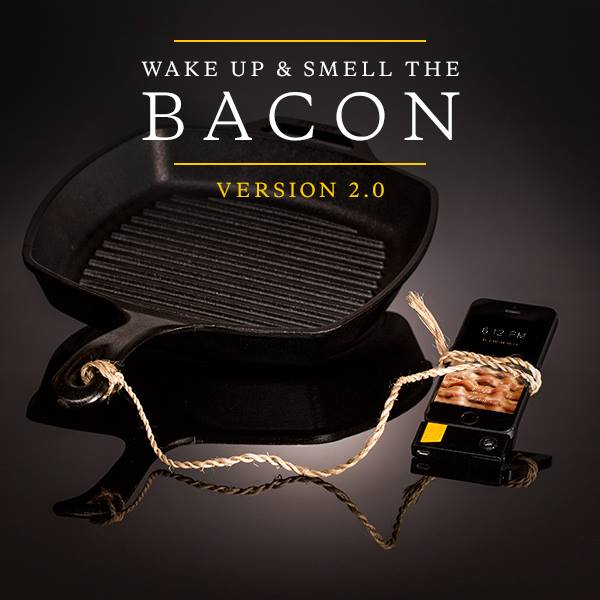 Oscar Mayer Bacon-Scented iPhone Alarm Version 2 Sklllet  and Phone