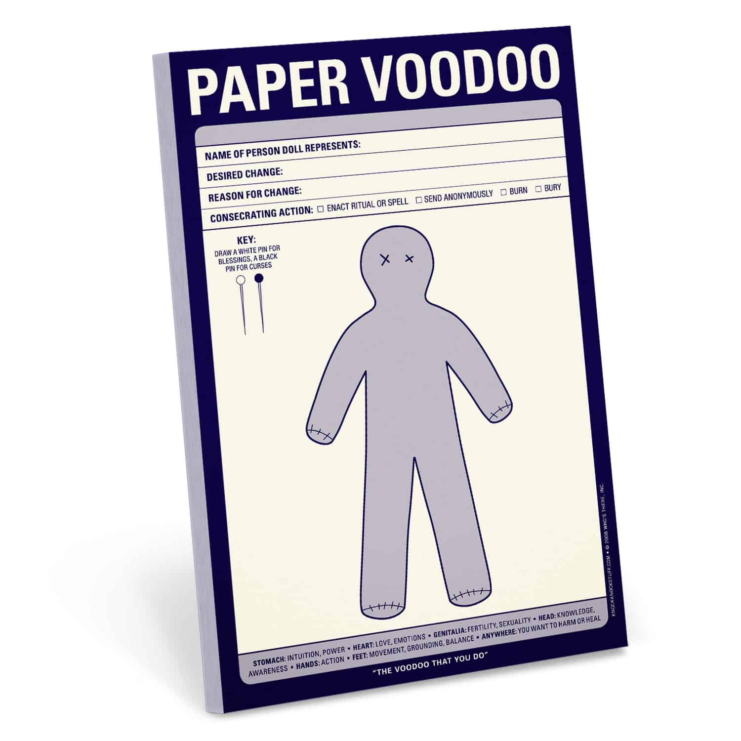 Paper Voodoo Pad Efficiently Curse People