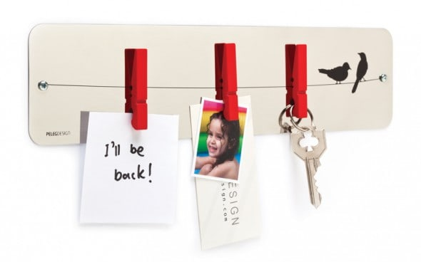 Pegs Memo Reflective Note Board Stylish Fixture to Hold Keys Bills and Pictures