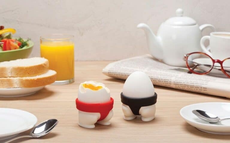 Peleg Design Sumo Egg Cups Cracked Sumo Egg Funny Breakfast Idea