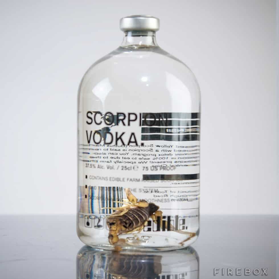 Scorpion Vodka Creepy Crawler Taste Dare you to Drink
