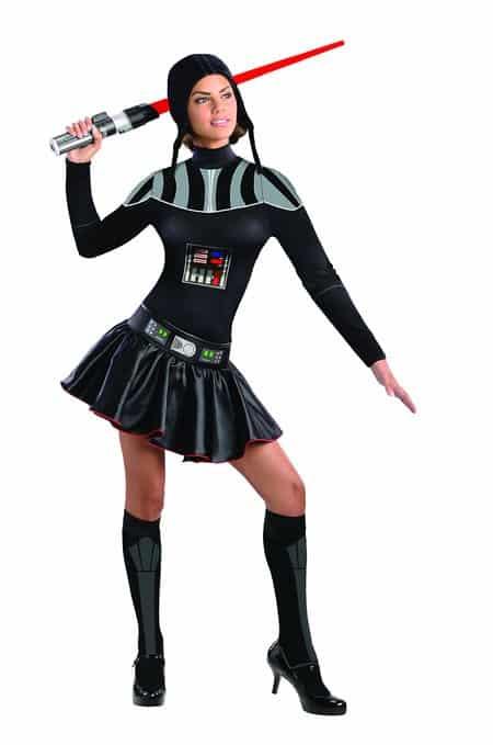 Secret Wishes Star Wars Female Mini Skirt Costumes Darth Vader for Halloween