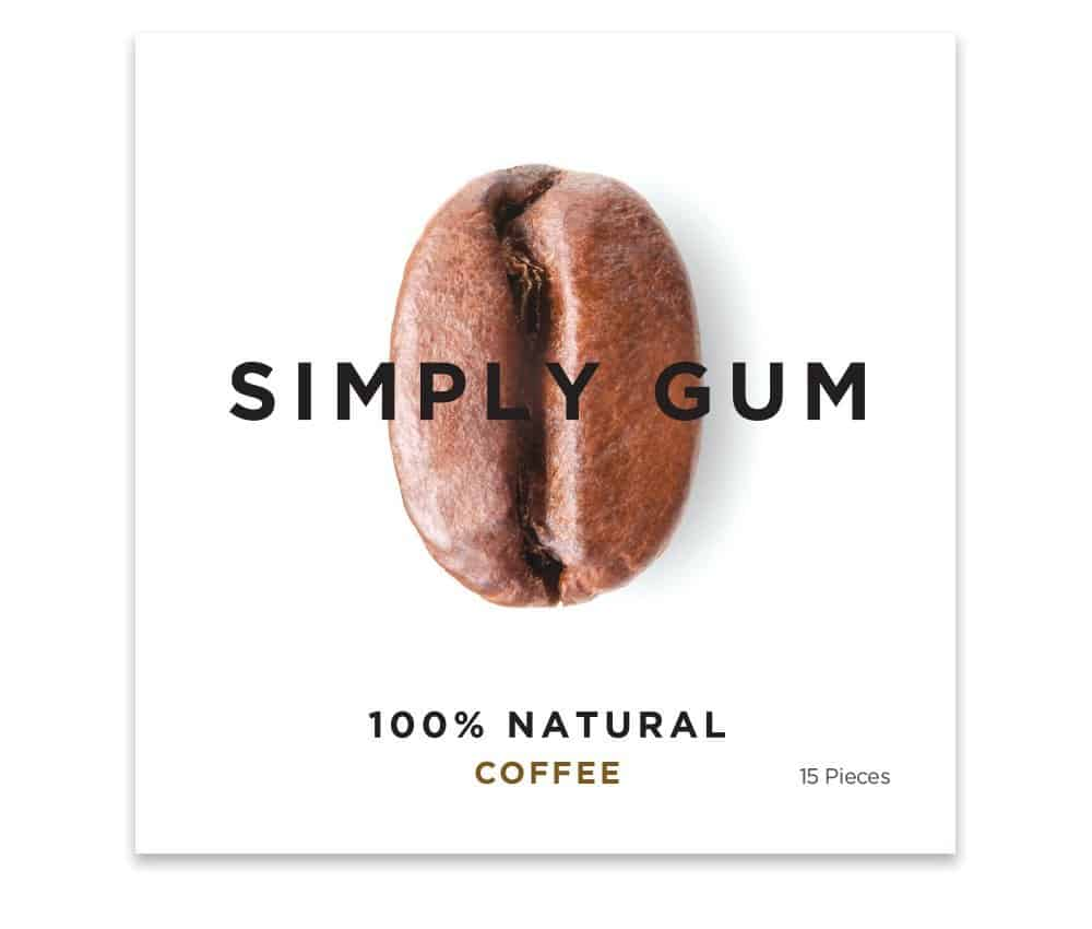 Simply Gum Natural Chewing Gum Coffee Flavor Organic Snack