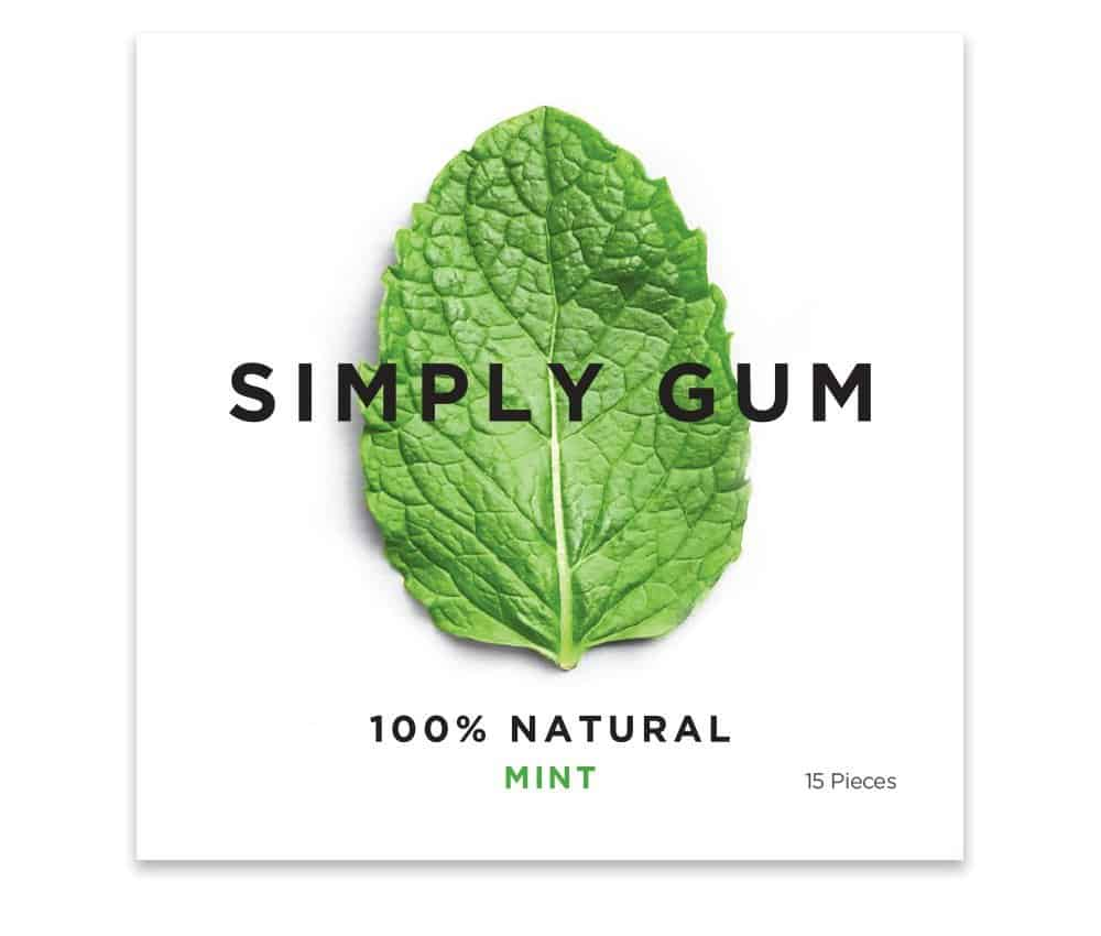 Simply Gum Natural Chewing Gum  Mint Flavor Healthiest Candy