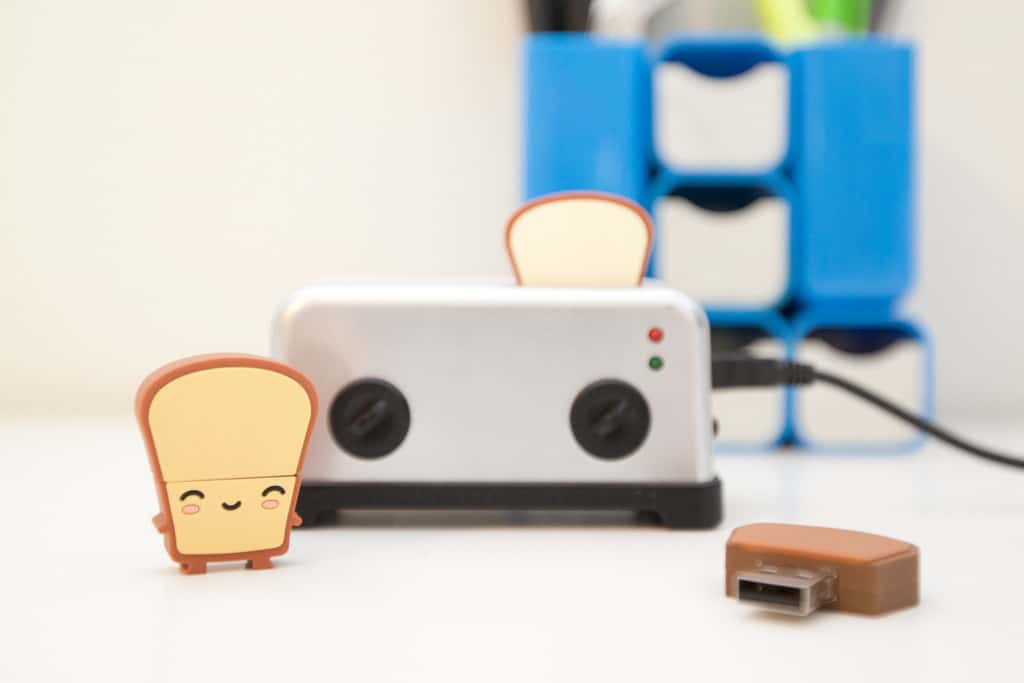 Smoko Toast USB Flash Drive 8GB and Toaster Hub Cute Gadgets