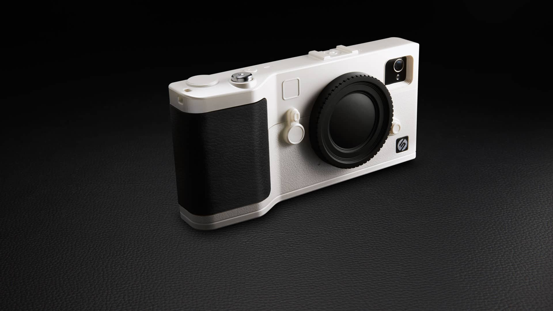 Snap Camera iPhone Case White Retro Camera Design