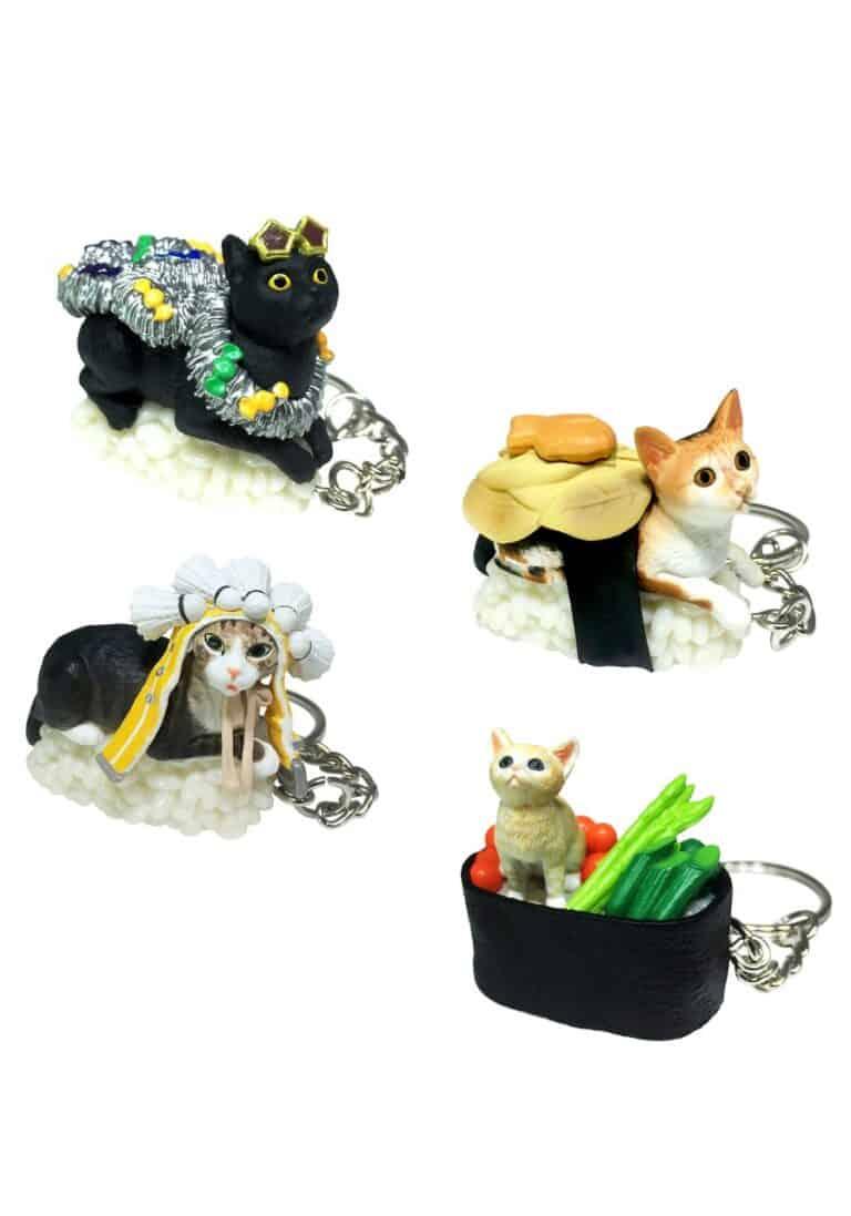 TandNPeanuts Sushi Cats Series 3 Keychains