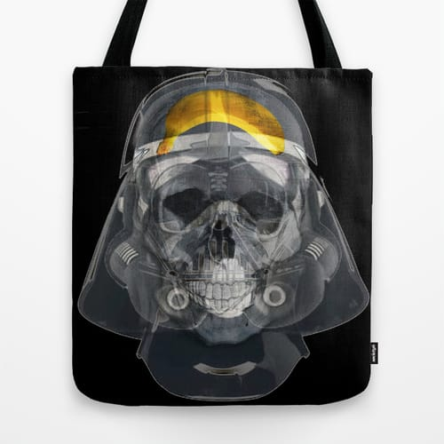 Vader Xray Tote Bag by Vin Zzep Banana Sith Lord Funny Star Wars Art