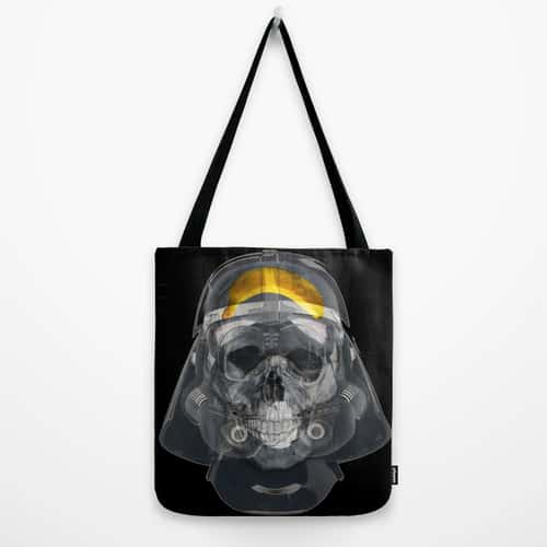 Vader Xray Tote Bag by Vin Zzep Funny Star Wars Artwork Darth Banana