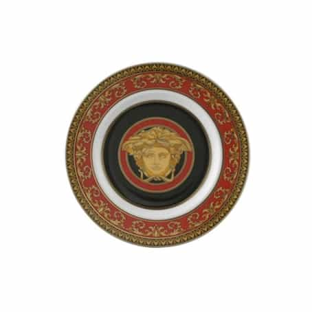 Versace by Rosenthal Medusa Red Plate Collection Bread and Butter Plate