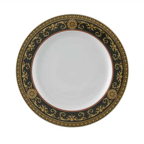 Versace by Rosenthal Medusa Red Plate Collection Green Dinner Plate
