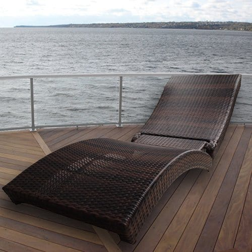 Zen Portable Folding Rattan Lounger Yacht Furniture