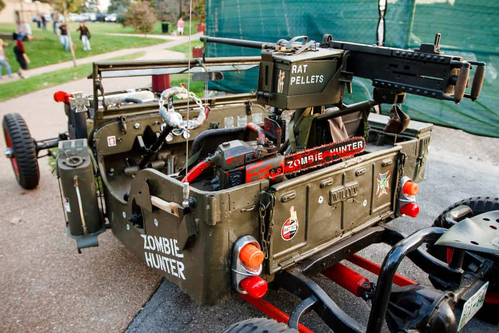 1946 Willys CJ2A Jeep Zombie Hunter Gun and Ammo for the Undead