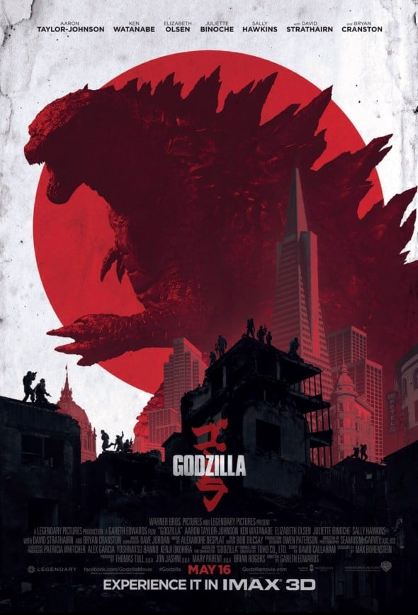 Godzilla 2014 Official IMAX Movie Poster Cool Geek Stuff to Buy