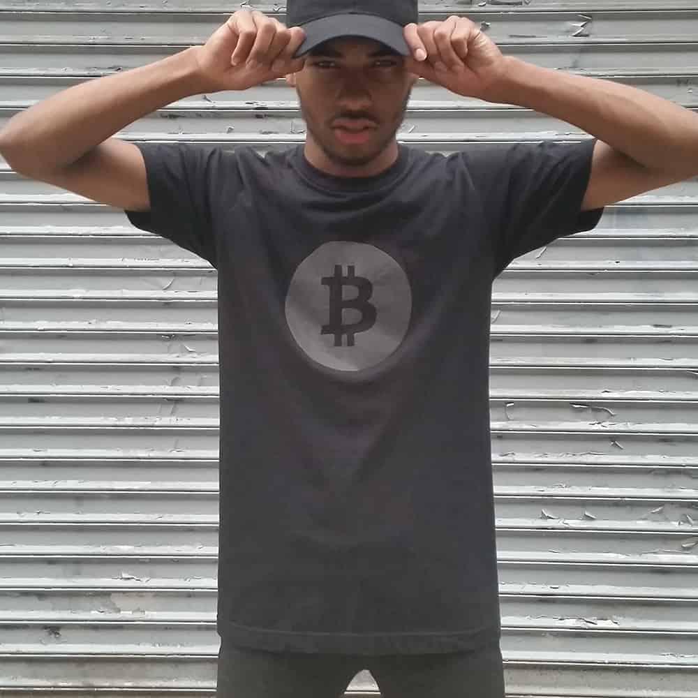 Heisel APP-009 Bitcoin Tee with Black Reflective Club Shirt