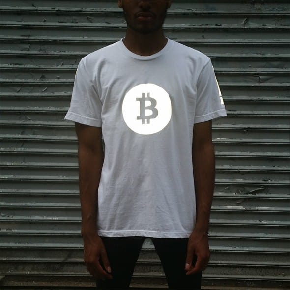 Heisel APP-009 Bitcoin Tee with Black Reflective Cool Shirt to Buy