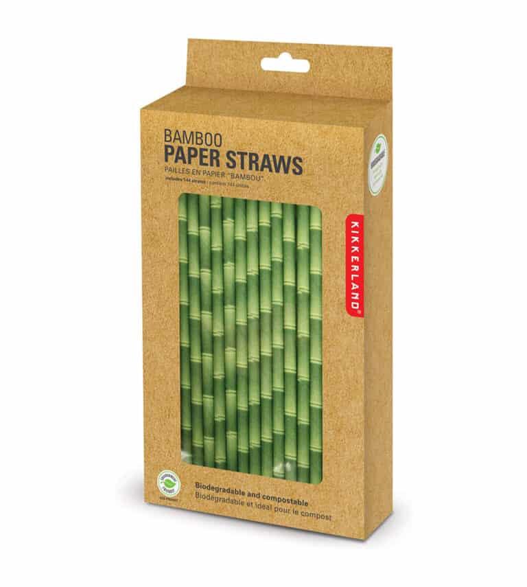 Kikkerland Biodegradable Paper Straws Biodegradable Box