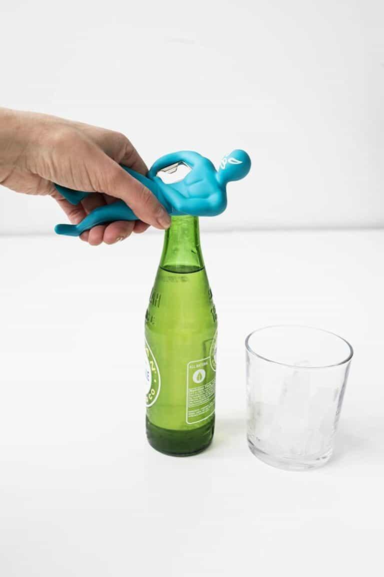 Kikkerland Luchador Bottle Opener Blue Lucha Headlock