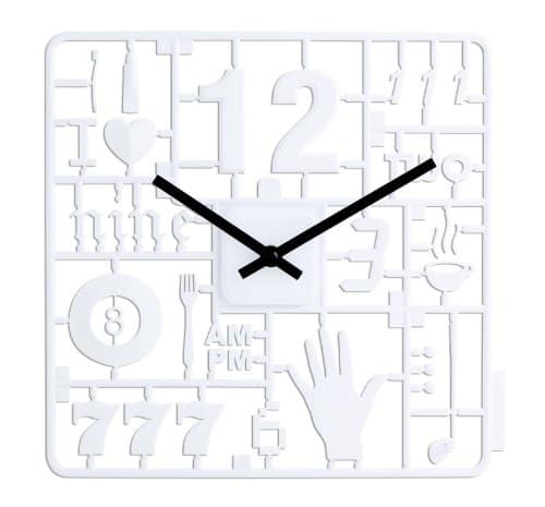 Kikkerland Model Kit Clock Weird Designer Time Piece