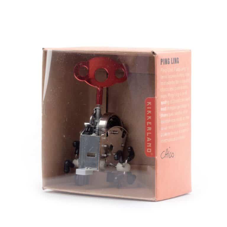 Kikkerland Ping Ling Windup Brown Box Packaging